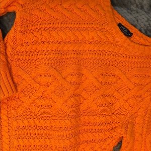 Polo Ralph Lauren Orange Cable Knit Sweater Med